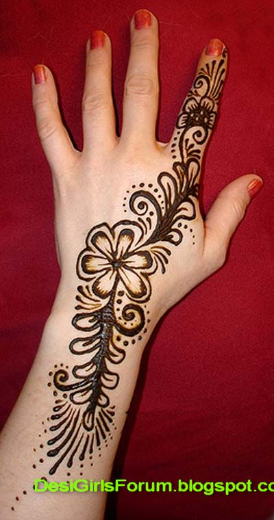 Mehndi For Practice : Arabic mehndi designs for girls pictures