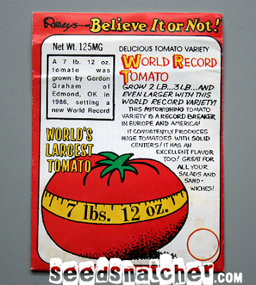 Ripley's Believe It or Not! World's Largest Tomato seed packet