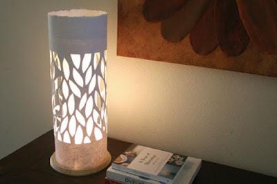 falling leaves paper lamp