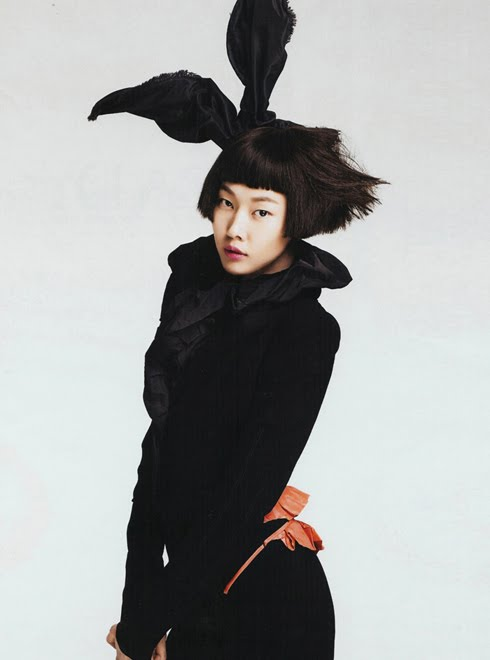 Asian model Han Jin in bunny ears!