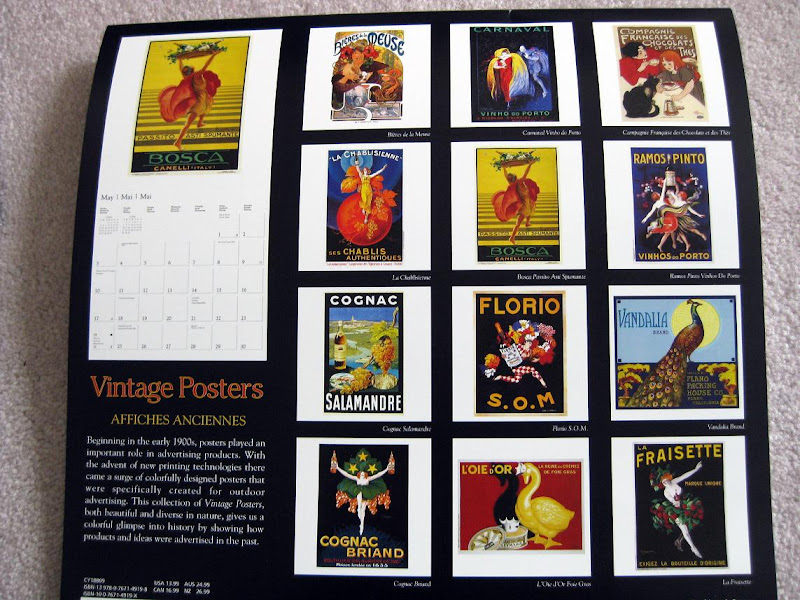 vintage advertisements calendar!