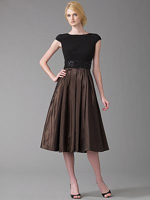 badgley mischka saks fifth avenue full skirt dress