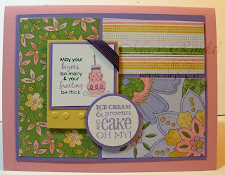 stampin up, Birthday Bliss, Saleabration, rubber stamping