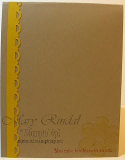 stampin up, card