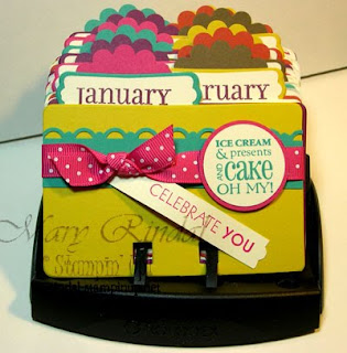 stampin up, rolodex, birthday calendar, big shot