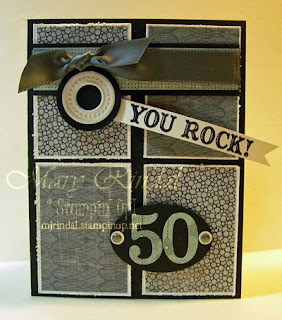 stampin up, birthday card, 50th birthday, Big Shot