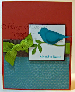 stampin up, 2 step bird punch, stampin addicts, color challenge