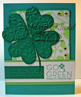 stampin up, go green, st patrick's day card