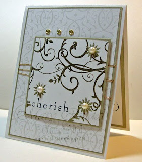 stampin up, baroque motif, bride specialty paper, wedding cards