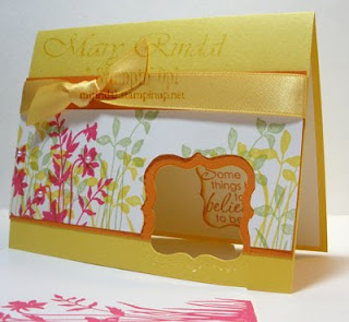 stampin up, just believe, daffodil delight