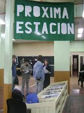 La bandera de la Próxima Estación presente en el festival Oberá en Cortos 2010