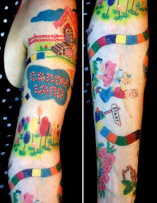candy land tattoo