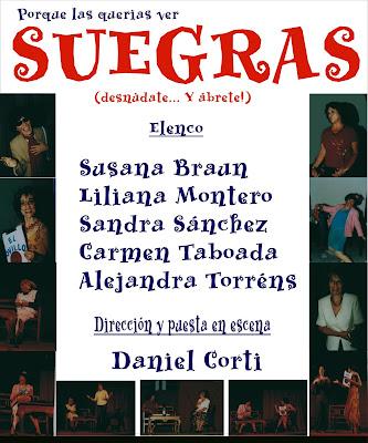 """31 de octubre a las 21:30, se presentará la obra teatral """"Suegras ..."""