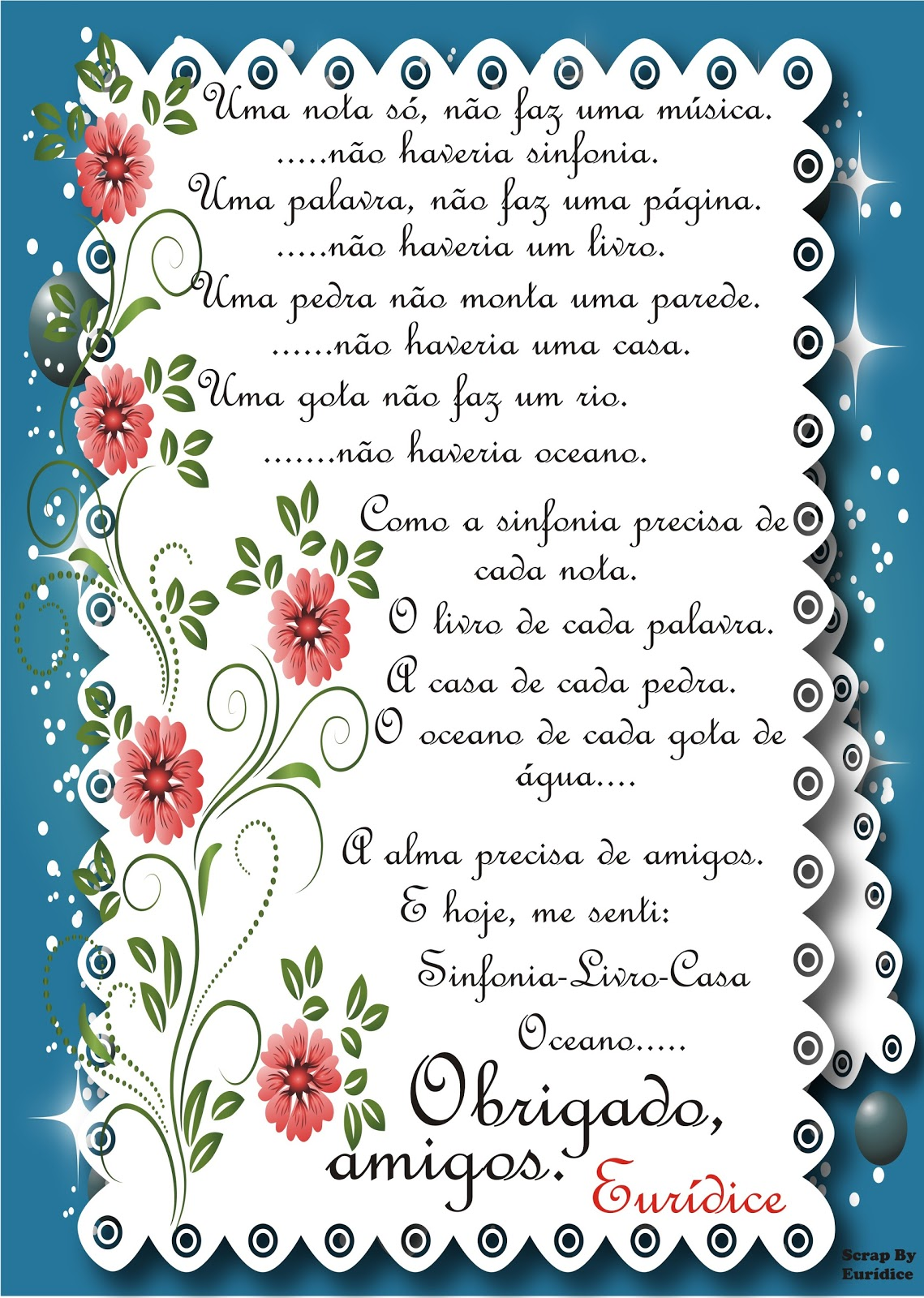Euridice Maria Agradecimentos Pelo Meu Aniversário