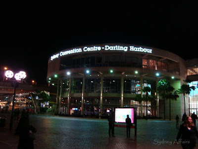 Sydney Convention Center Darling Harbour Night Sunset, Sydney, Australia