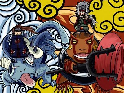 AGZ Chibi Jiraiya Vs Pain Wallpaper