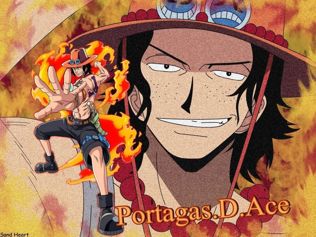 Bleach and Cars: Portgas D. Ace Sand Heart Wallpaper