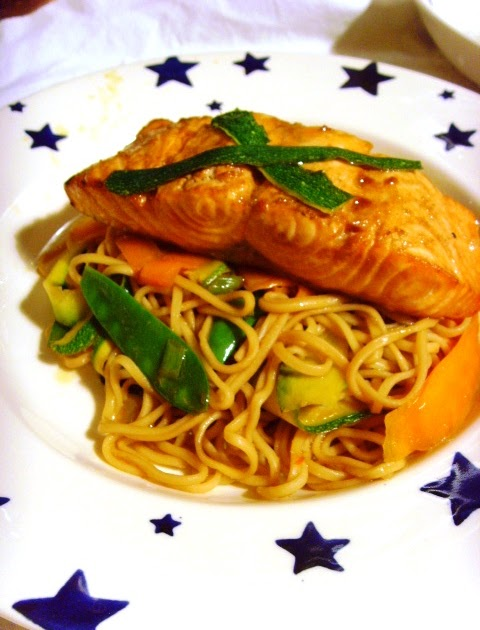 food glorious food soy and sesame salmon with vegetable