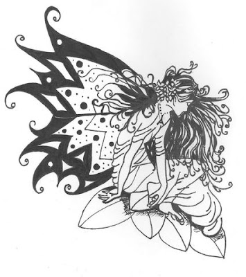 fairy-tribal-tattoo-designs1. The most typical spot for an angel and fairy