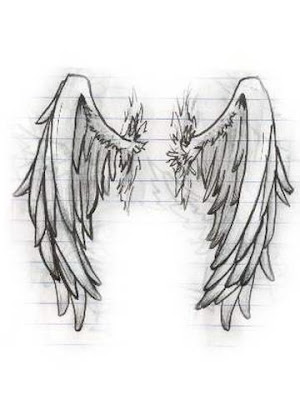 Angel wing drawing. Choosing a tattoo can be a hard decision.