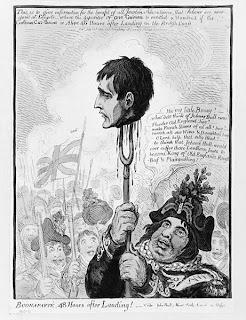 John Bull qui tend la tête de Napoléon Bonaparte