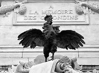 Coq gaulois statue
