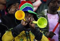 Vuvuzela supporter sud-africain