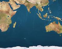 Carte Océan Indien