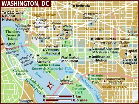 Le saviez vous les particularit s de la ville de washington for Who designed the basic plan for washington dc