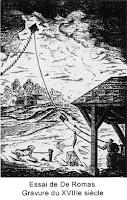 Cerf-volant - gravure du XVIIIe siècle