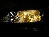 Phare jaune voiture