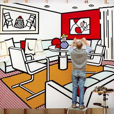 automatism inside roy lichtenstein 39 s studio. Black Bedroom Furniture Sets. Home Design Ideas