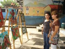 Visita del maestro Vela al Centro Escolar Pedro Pablo Castillo