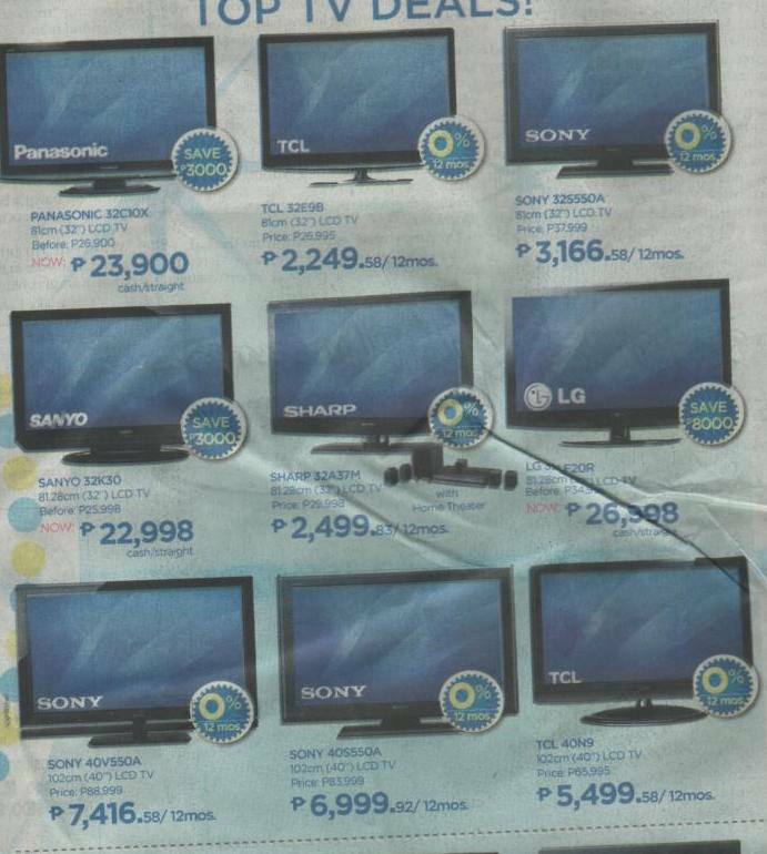 Lcd Led Tvs Philippines With Price Comparisons Abenson S