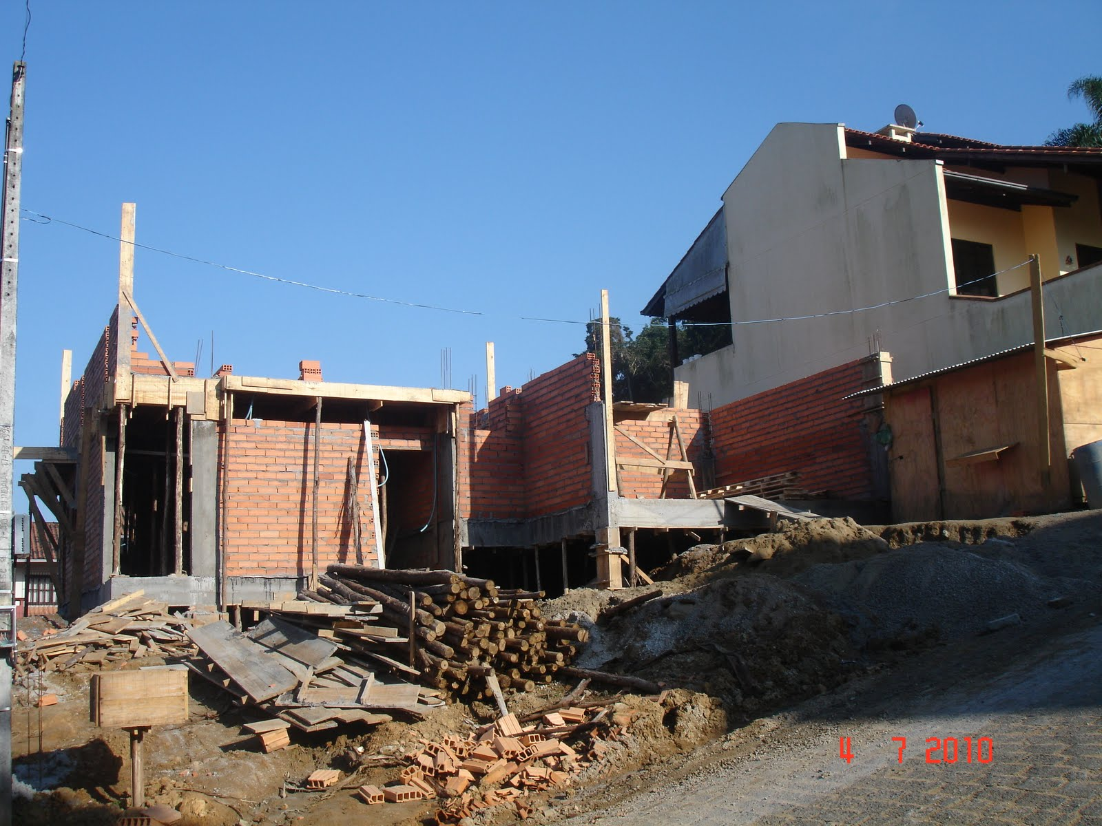 Nossa Casa no Site Construção da fundação ao acabamento: Fotos  #1F65AC 1600 1200
