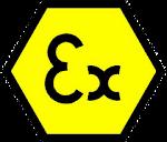 """Símbolo """"Ex"""" de identificação de equipamentos certificados para instalação em atmosferas explosivas"""