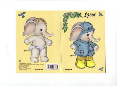 boneca de papel elefante