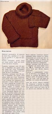 receita casaquinho trico