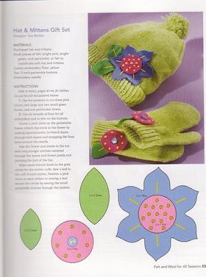 aplique flor feltro trico