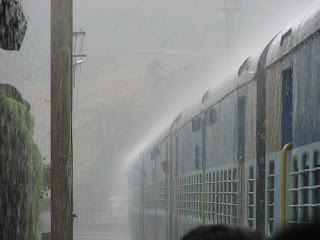 A Train and the Indian Monsoon