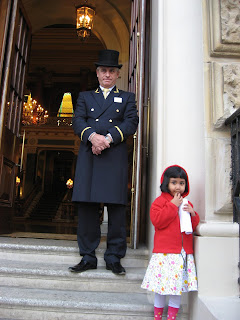 Doorman at the Thistle Victoria in London
