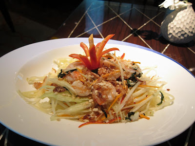 Raw Papaya Salad at Blue Ginger Delhi
