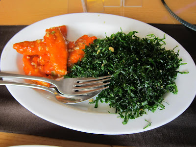Crispy Spinach Chicken at Soy Pune