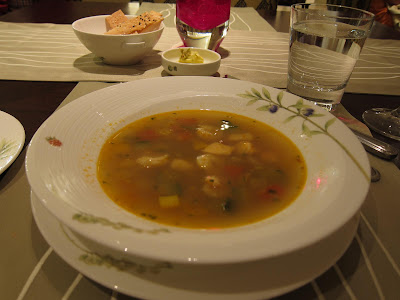 Seafood soup at West View Grill