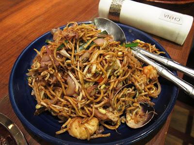 Sichuan seafood noodles