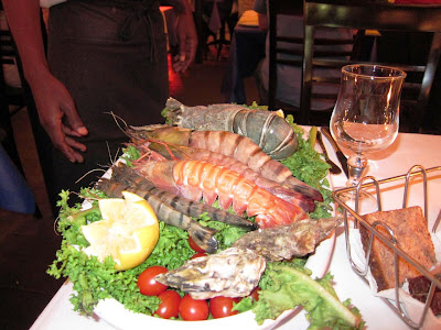 Seafood display at Montago Bay
