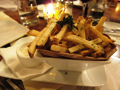Gourmet fries at Willi's Seafood and Raw Bar Healdsburg
