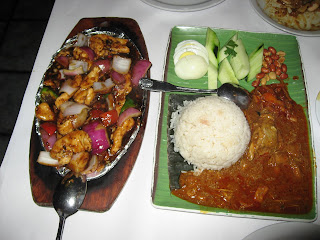 Malay Sizzling Chicken and Banana Leaf Rice