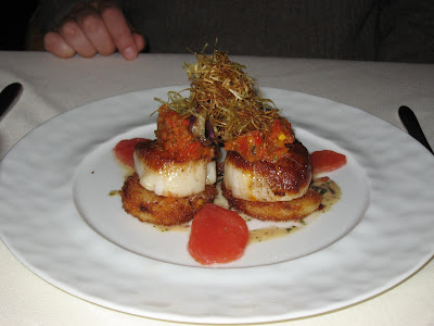 Scallops at La Belle Vie