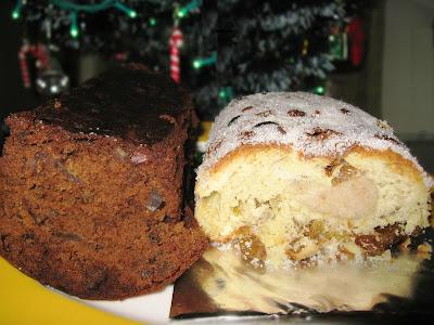Xmas Stollen and Plum Cake